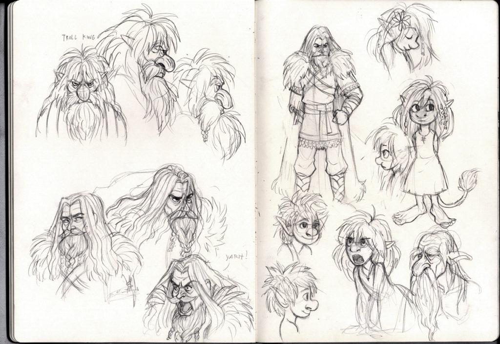 Fra Falchs skissebok på Tumblr.