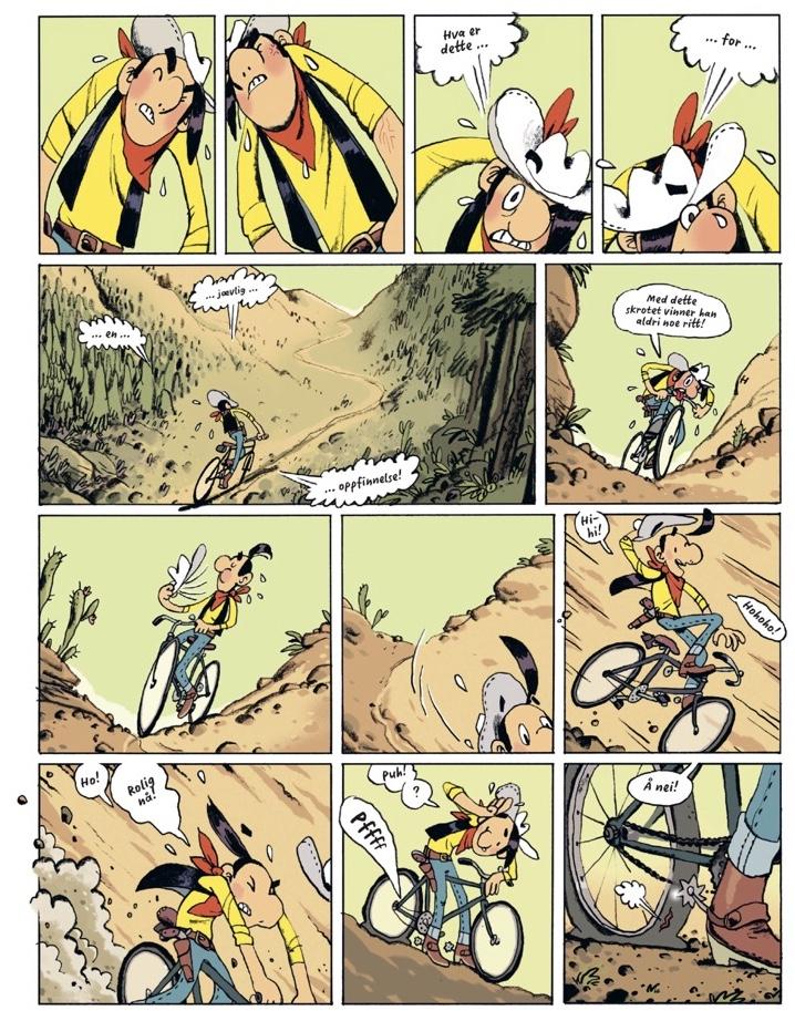 Lucky Luke saler om