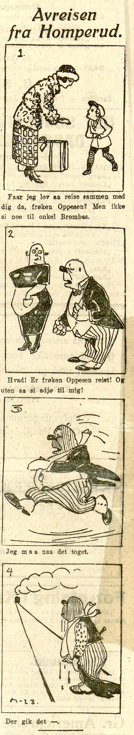 Onkel Brombas - Avreisen fra Homperud av Ivar Mauritz-Hansen.