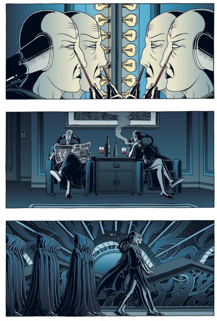 Seriene til Thomas Falla Eriksen er blant de få som forsøker å etablere sin helt egen verden. Fra Enki.