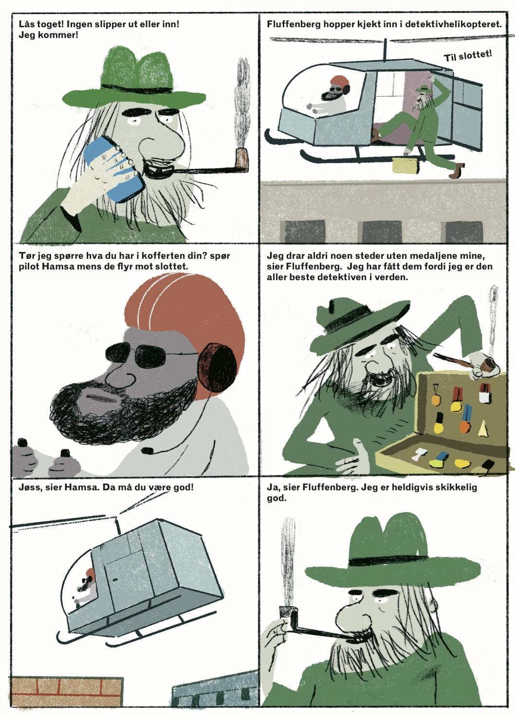 Hvem rumpet brunosten? av Erlend Loe og Kim Hiorthøy.